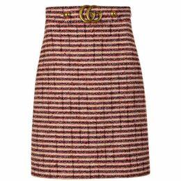 GUCCI Web Tweed Skirt