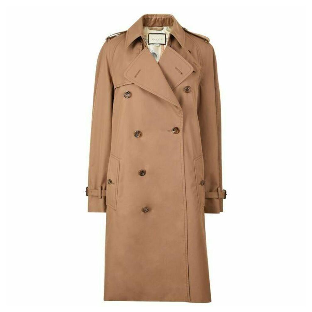 GUCCI Cat Trench Coat