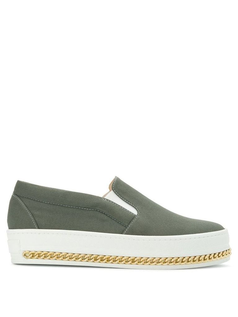 Mr & Mrs Italy slip-on curb chain sneakers - Green