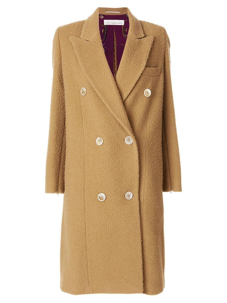 Golden Goose double breasted coat - Neutrals