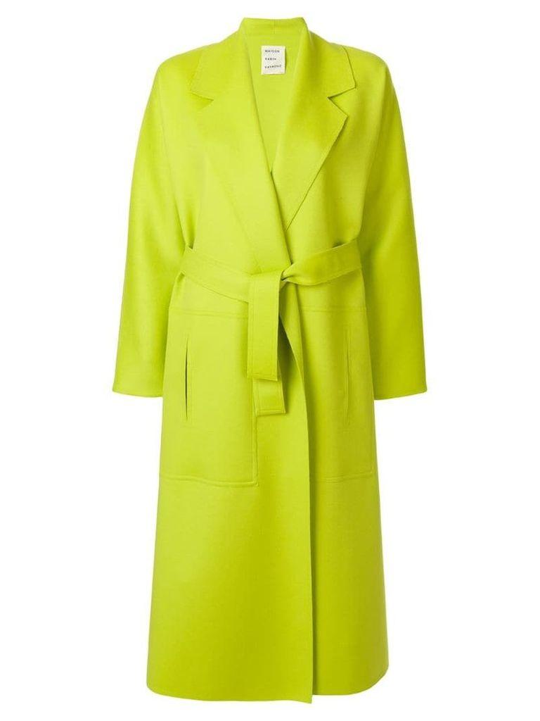 Maison Rabih Kayrouz long belted tailored coat - Green