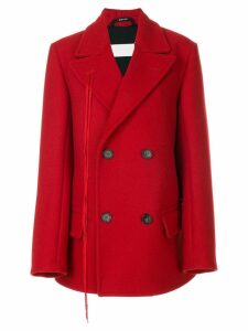 Maison Margiela double breasted short coat - Red