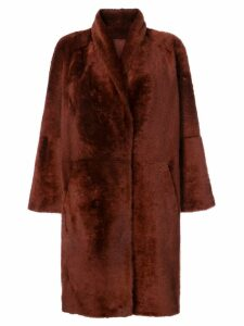 Sprung Frères oversized mid-length coat - Red