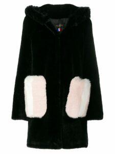 La Seine & Moi Mira contrast pocket coat - Black