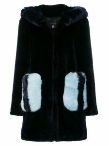 La Seine & Moi Mira contrast pocket coat - Blue