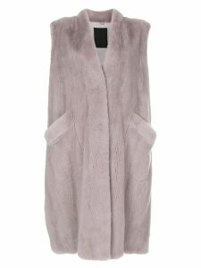 Liska long sleeveless coat - Pink