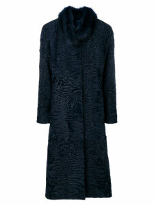 Liska round collar coat - Blue