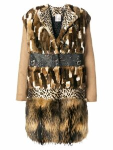 Antonio Marras panelled coat - Brown