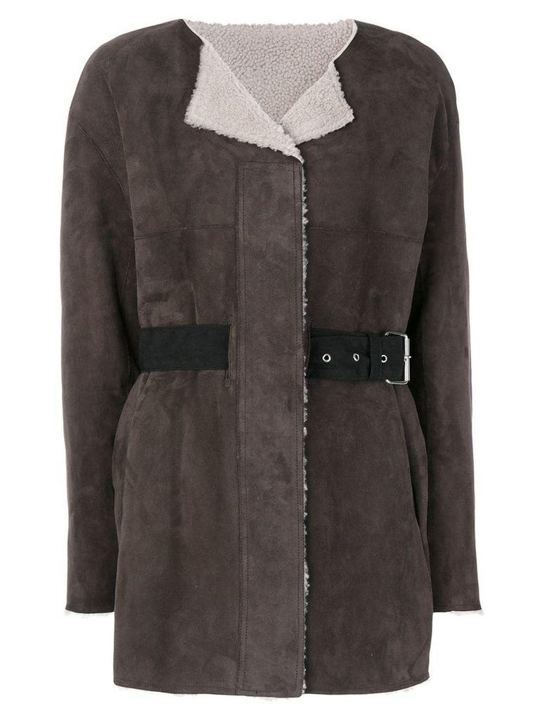 Isabel Marant Alison reversible coat - Brown