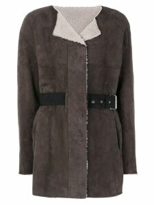 Isabel Marant Alison reversible coat - Brown
