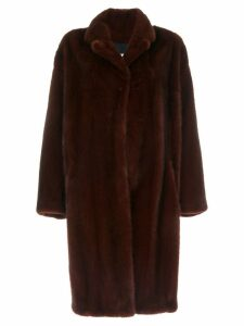 Sprung Frères oversized mink fur coat - Red