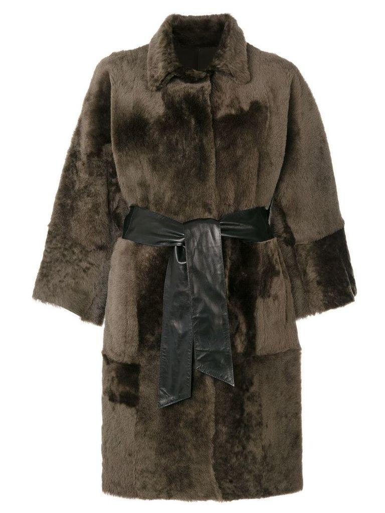 Drome oversized fur reversible coat - Green