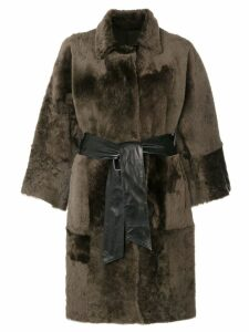Drome oversized fur reversible coat - Green