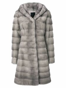 Liska Valencia hooded fur coat - Grey