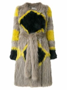 Yves Salomon Meteo printed belt coat - Multicolour