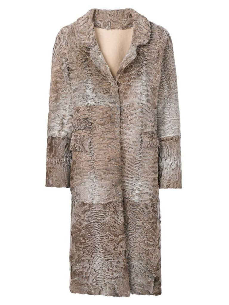 Liska Hyrmes long coat - Neutrals