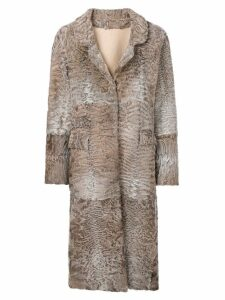 Liska Hyrmes long coat - Neutrals