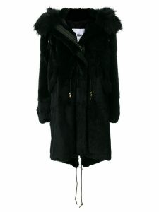 Furs66 rabbit fur parka - Black