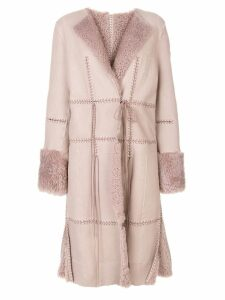 Alexander McQueen stitch detailed coat - Pink