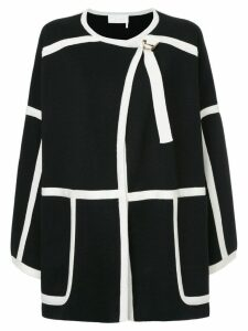 Chloé contrast trim coat - Black