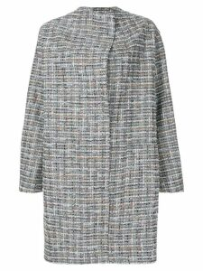 Antonio Marras embroidered cocoon coat - Grey