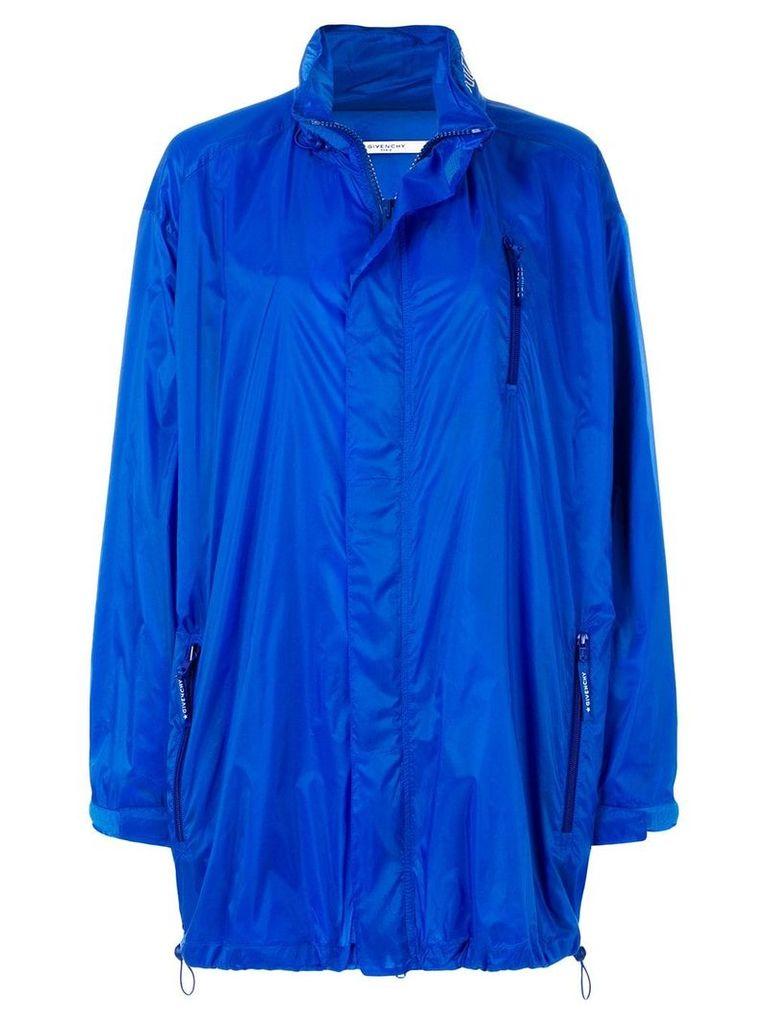 Givenchy long line oversized coat - Blue