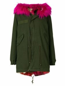 Mr & Mrs Italy short fur lined parka coat - Green