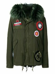 Mr & Mrs Italy parka coat with patch appliqués - Green