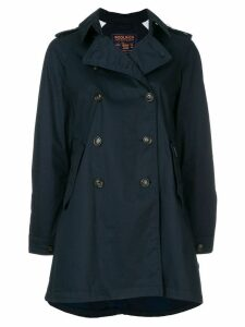 Woolrich zipped parka coat - Blue