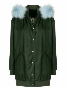 Mr & Mrs Italy detachable hood midi coat - Green