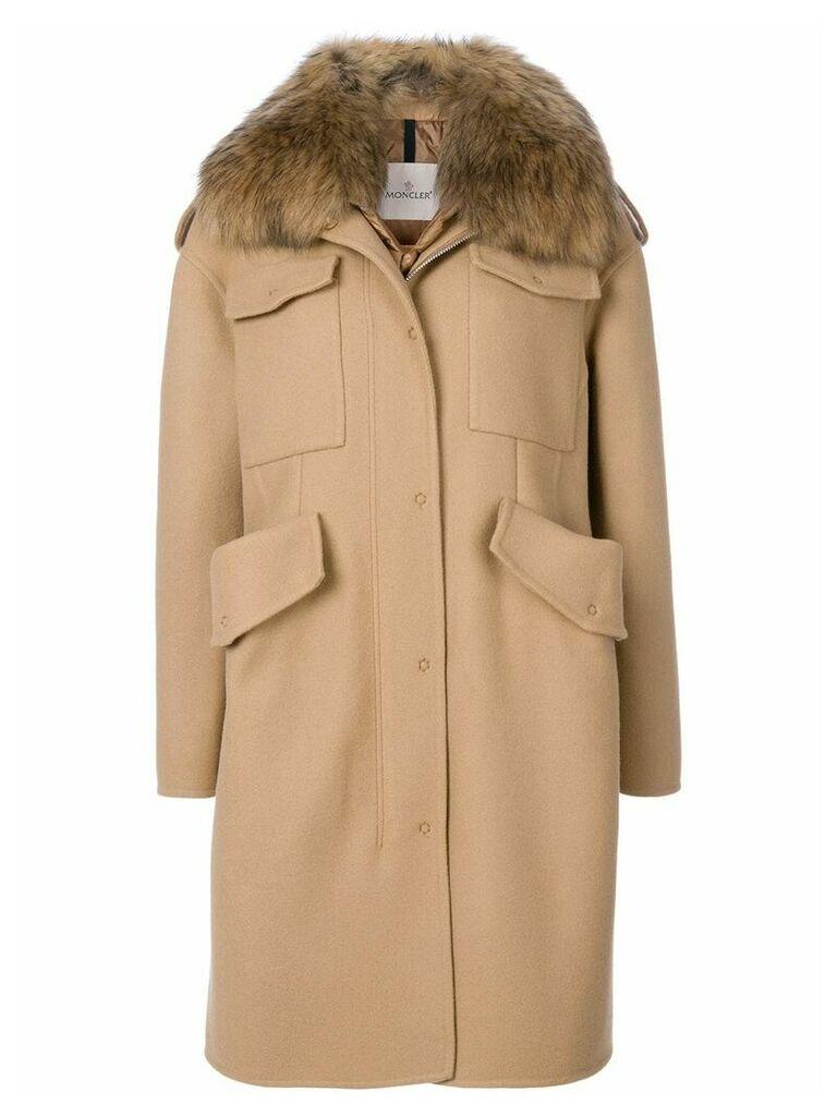 Moncler Phillirea gilet coat - Brown