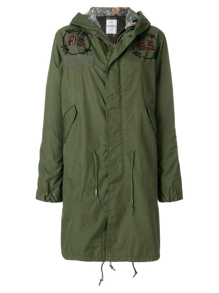 As65 embellished parka coat - Green