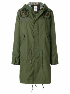 As65 embellished parka coat - Green