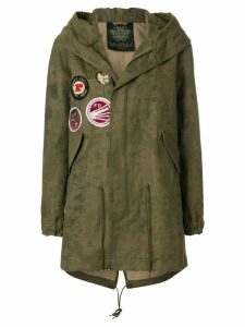 Mr & Mrs Italy patch detail parka - Green