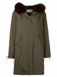 Yves Salomon Army zip-up parka - Green