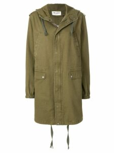 Saint Laurent long parka - Green