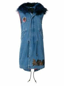 Mr & Mrs Italy sleeveless denim parka - Blue