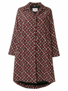 La Doublej Velvet Loden Domino coat - Red