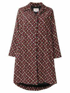 La Doublej Velvet Loden Domino coat - Red