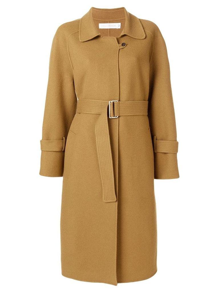 Victoria Beckham belted midi coat - Brown
