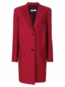 Jil Sander single breasted coat - Red