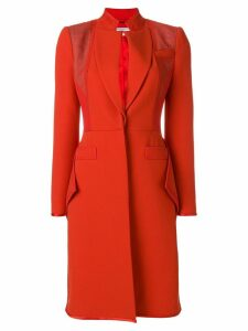 Givenchy Ruffle hem crepe coat - Red