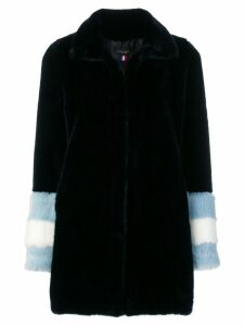 La Seine & Moi Carene faux fur coat - Blue