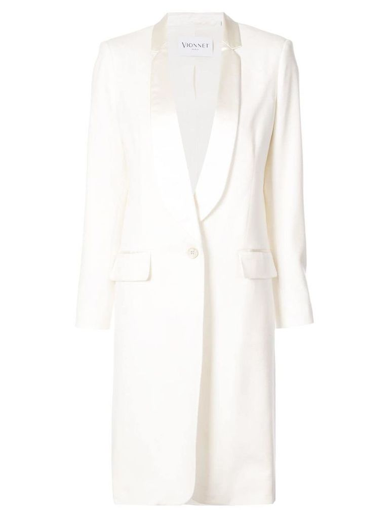 Vionnet cashmere fitted coat - White