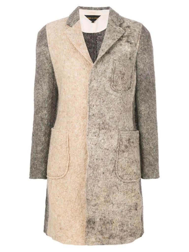Comme Des Garçons patchwork coat - Brown