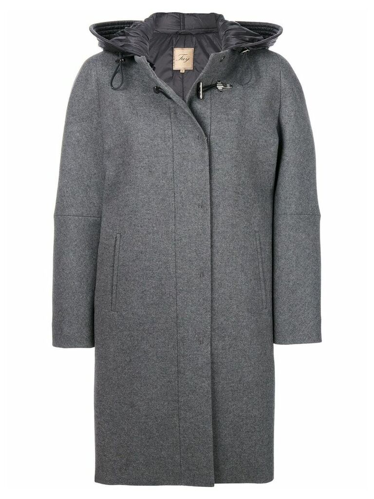 Fay cocoon fitted coat - Grey