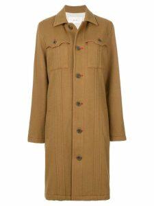 Julien David pocket detail coat - Brown
