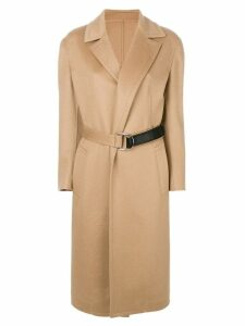 Calvin Klein 205W39nyc belted wrap coat - Neutrals