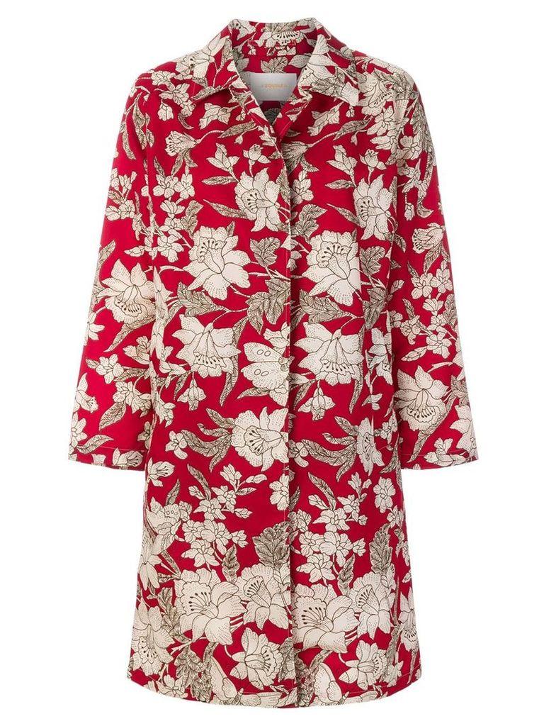 La Doublej floral print coat - Red