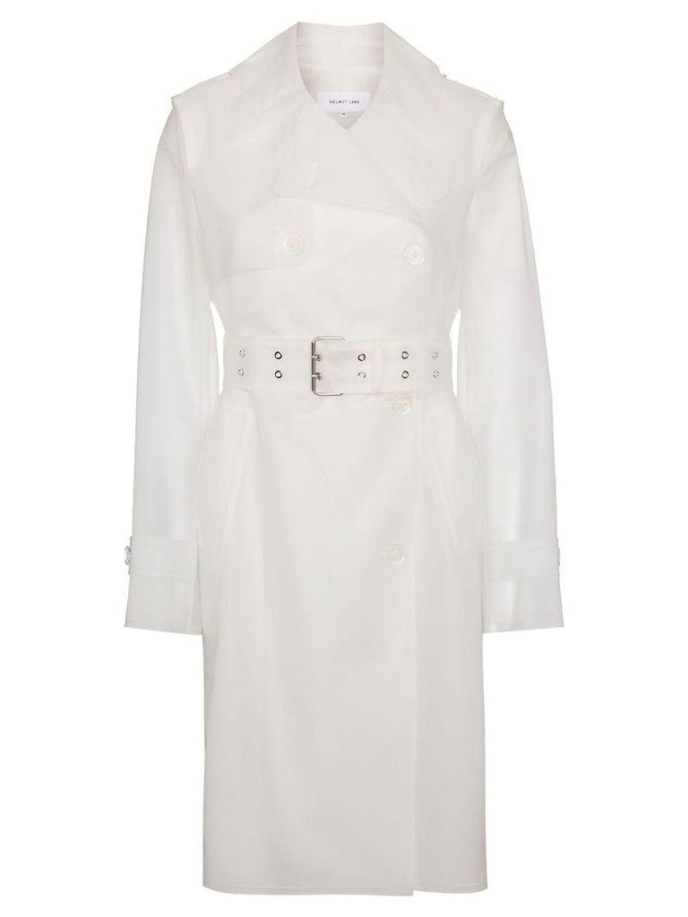 Helmut Lang fetish trench coat - White
